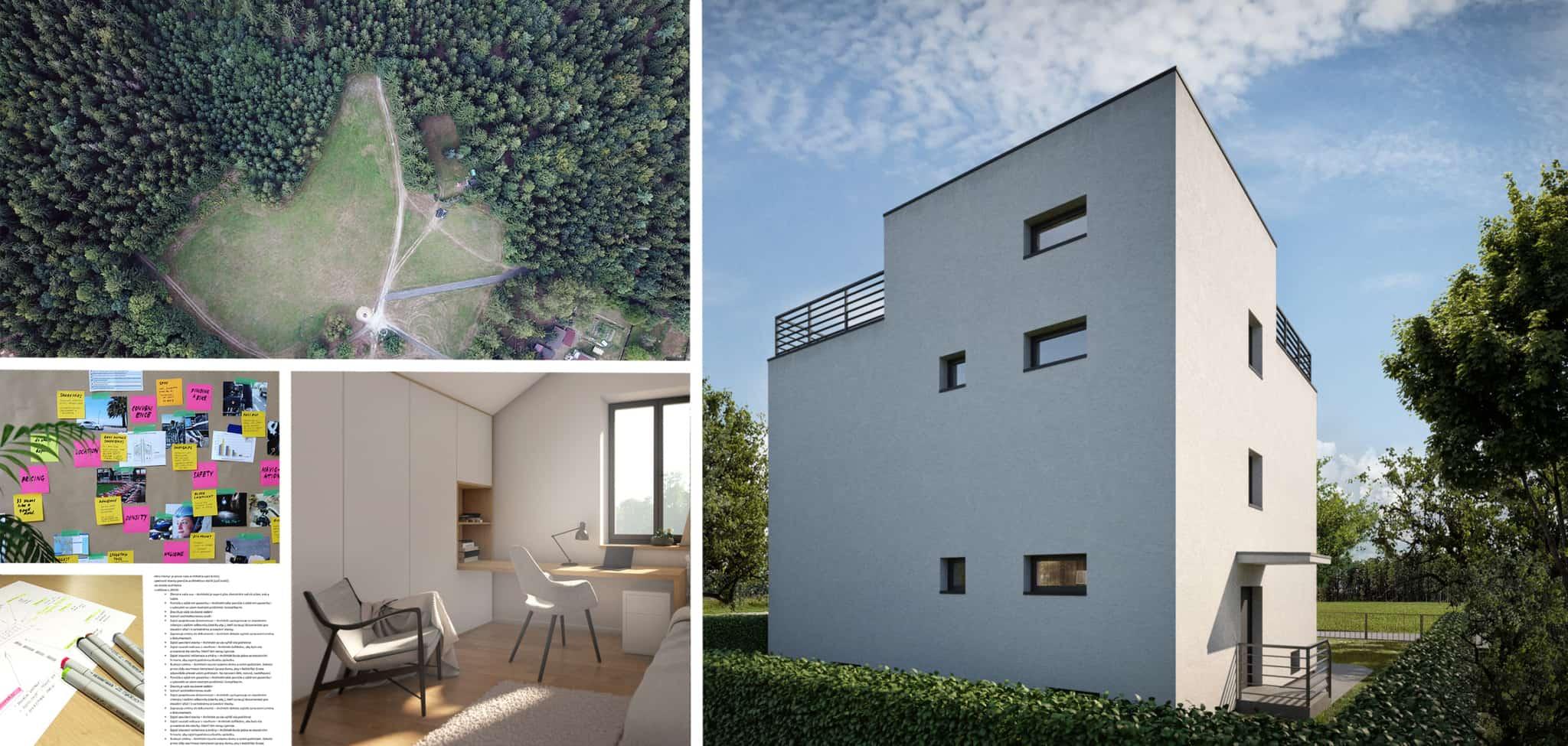Finální návrh architekt ladí na míru vám a konkrétnímu místu